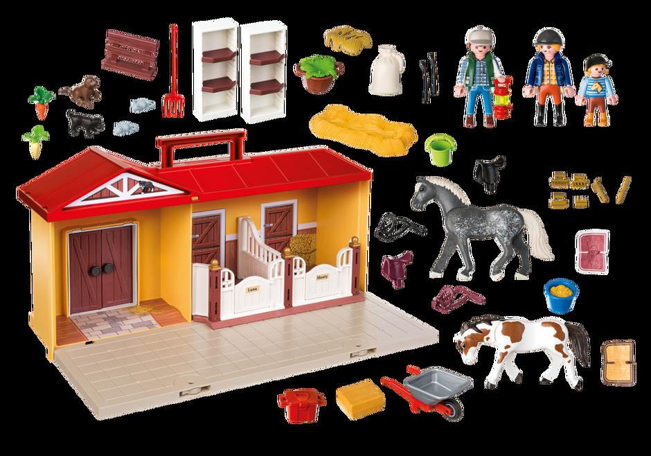 Playmobil 5671-usa - Take Along Horse Stable - Back
