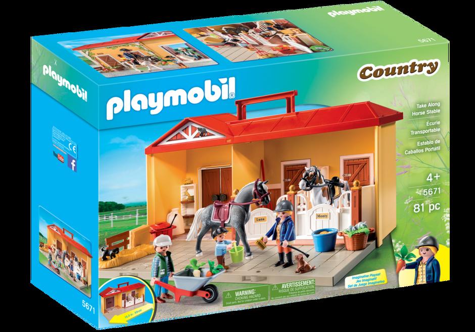 Playmobil 5671-usa - Take Along Horse Stable - Box