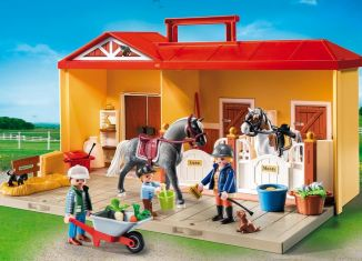 Playmobil - 5671-usa - Take Along Horse Stable