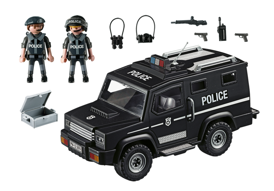 Playmobil 5674-usa - Tactical Unit Car - Back