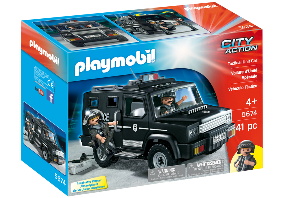 Playmobil 5674-usa - Tactical Unit Car - Box