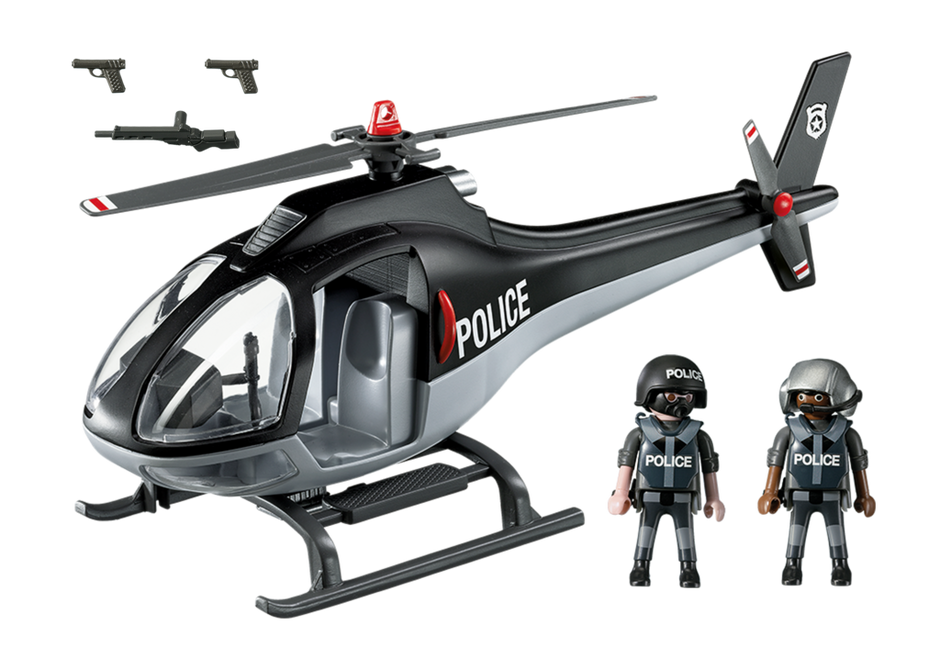 Playmobil 5675-usa - Tactical Unit Copter - Back