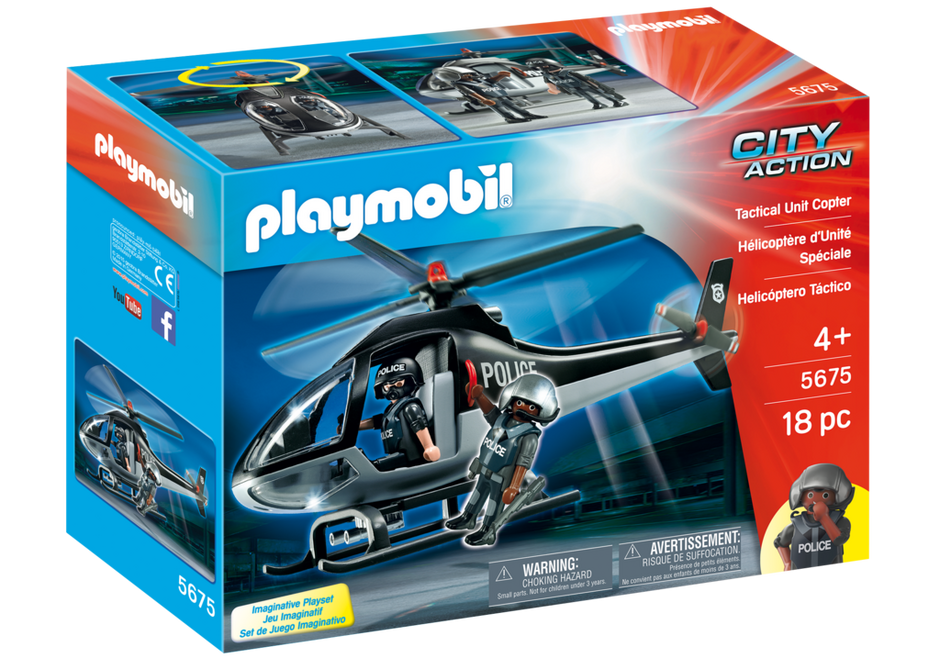 Playmobil 5675-usa - Tactical Unit Copter - Box