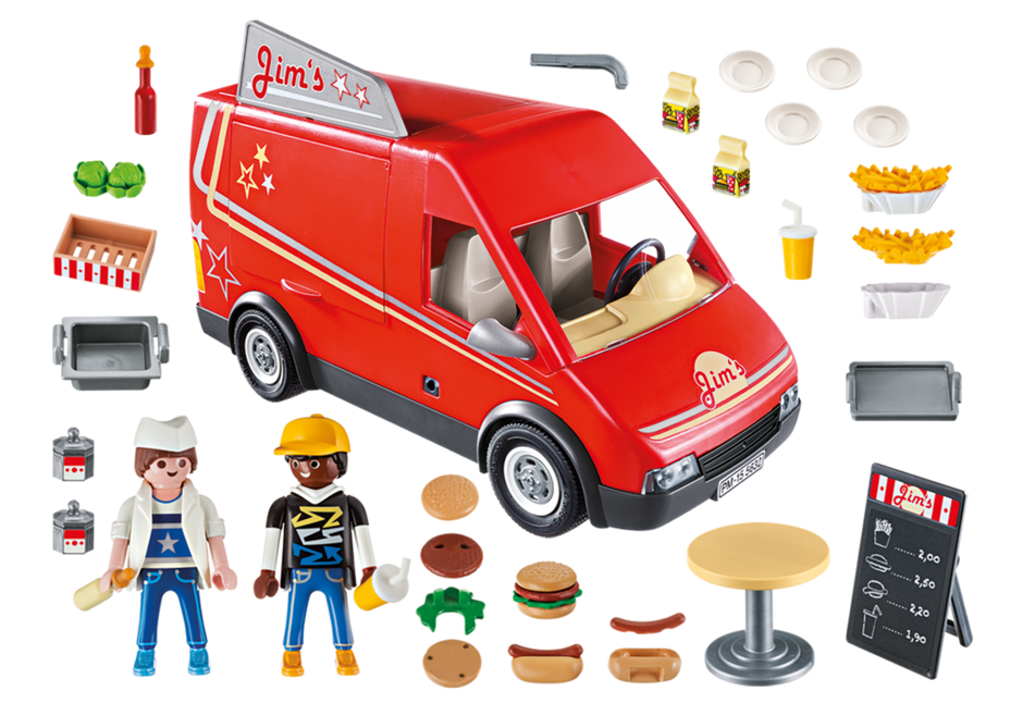 Playmobil 5677-usa - City Food Truck - Back