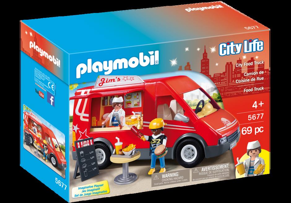 Playmobil 5677-usa - City Food Truck - Box