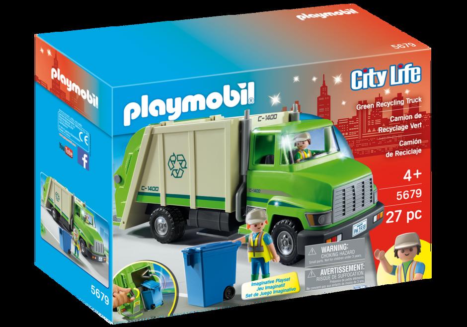 Playmobil 5679-usa - Green Recycling Truck - Box