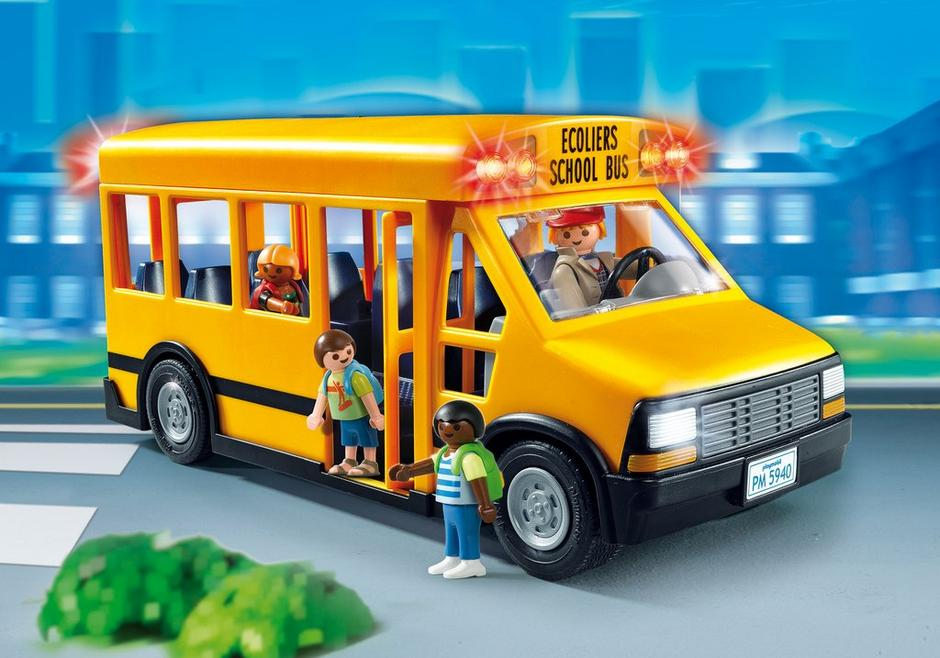 Playmobil Set 5680 Usa School Bus Klickypedia