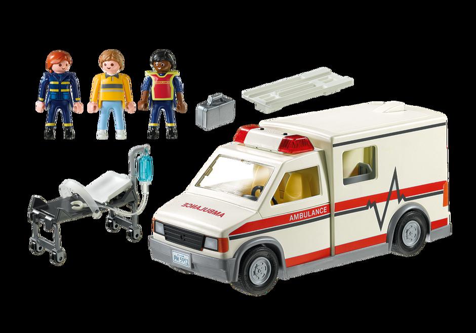 Playmobil 5681-usa - Rescue Ambulance - Back