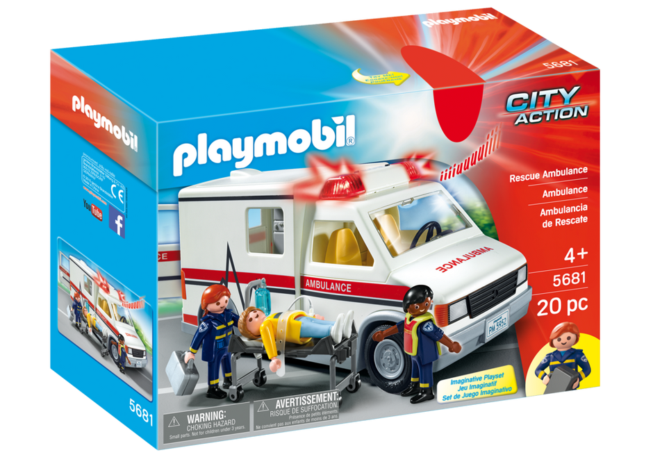 Playmobil 5681-usa - Rescue Ambulance - Box