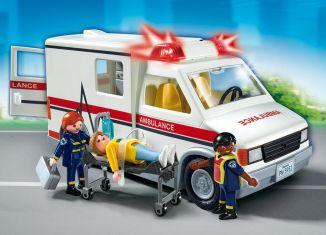 Playmobil - 5681-usa - Rescue Ambulance