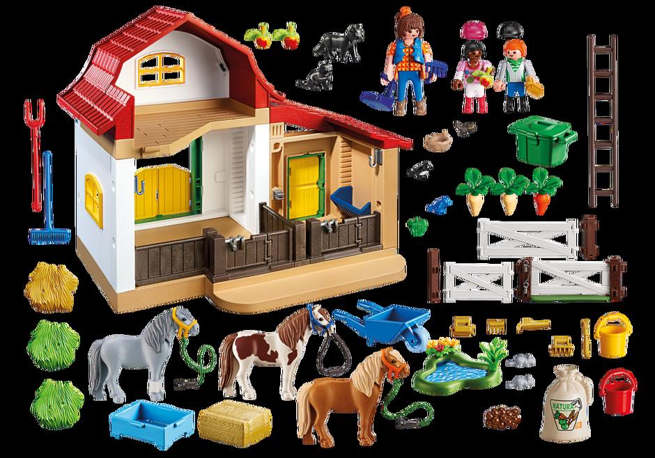 Playmobil 5684-usa - Pony Farm - Back