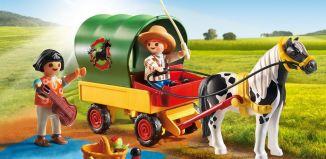 Playmobil - 5686-usa - Picnic with Pony Wagon