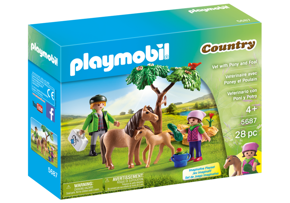 Playmobil 5687-usa - Vet with Pony and Foal - Box