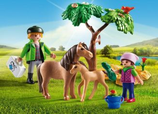 Playmobil - 5687-usa - Vet with Pony and Foal