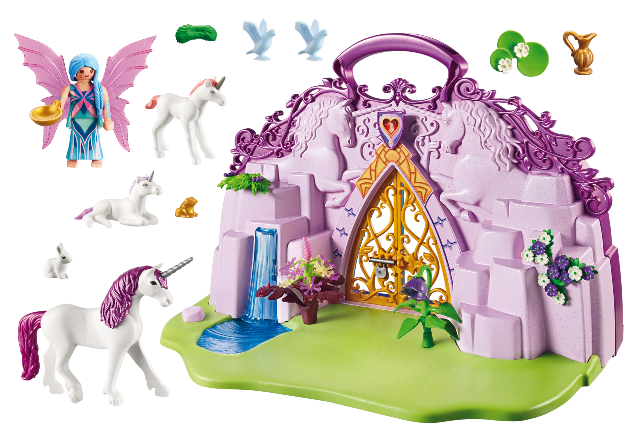 Playmobil 6179 - Take Along Fairy Unicorn Garden - Back
