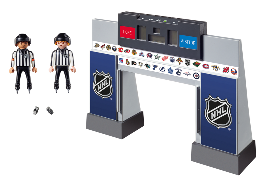 Playmobil 9016-usa - NHL® Score Clock with 2 Referees - Back