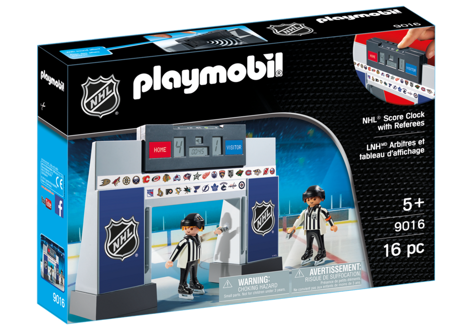 Playmobil 9016-usa - NHL® Score Clock with 2 Referees - Box