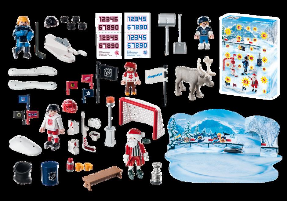 Playmobil 9017-usa - NHL® Advent Calendar - Rivalry on the Pond - Back