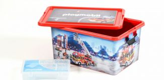 Playmobil - 00000 - 23L Storage Box + Compartment Case - Firefighters