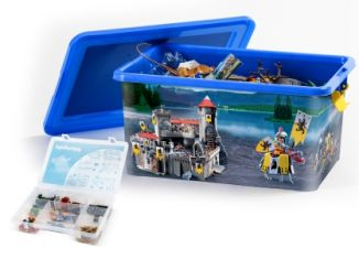 Playmobil - 00000 - 23L Storage Box + Compartment Case - Knights