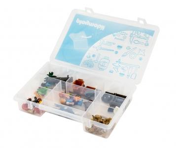 Playmobil 00000 - Caja de almacenamiento 23L + estuche compartimentado - Bomberos - Volver