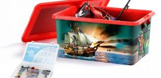 Playmobil - 00000 - 23L Storage Box + Compartment Case - Pirates