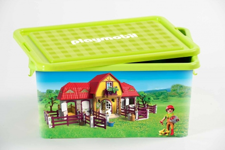 Playmobil 00000 - 23L Storage Box + Compartment Case - Horse stable - Box