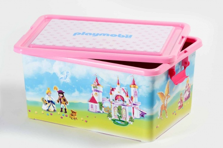 Playmobil 00000 - 23L Storage Box + Compartment Case - Princess - Boîte