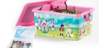 Playmobil - 00000 - 23L Storage Box + Compartment Case - Princess