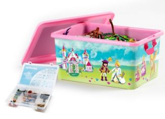 Playmobil - 00000 - 23L Storage Box + Compartment Case - Princess