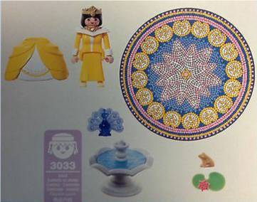 Playmobil 3033 - Princess with Magic Fountain - Back