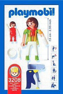 Playmobil 3208s2 - Mother with Child - Back
