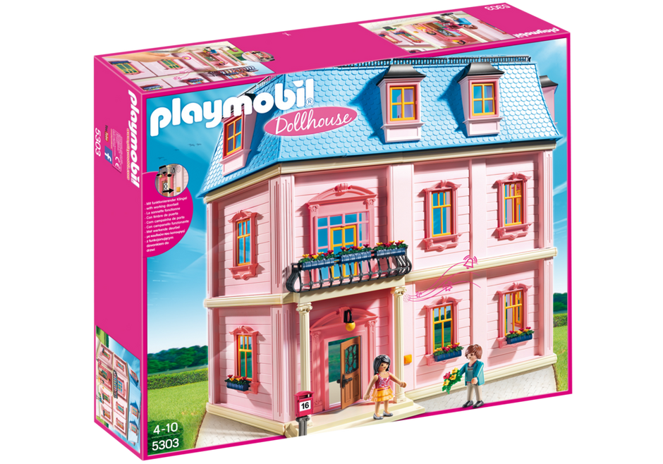 Playmobil 5303 - Romantisches Puppenhaus - Box