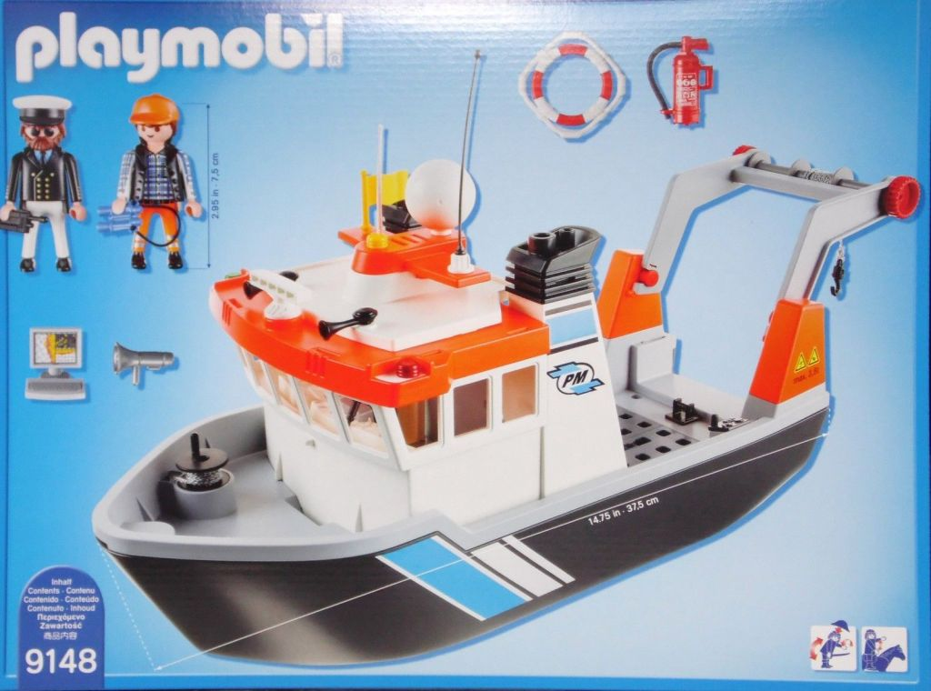 ... Playmobil 9148 - Tugboat - Back