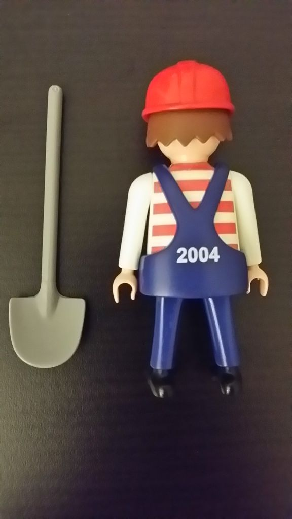 Playmobil 30803590-ger - Maintenance Employee BVG (U5, 2004) - Back