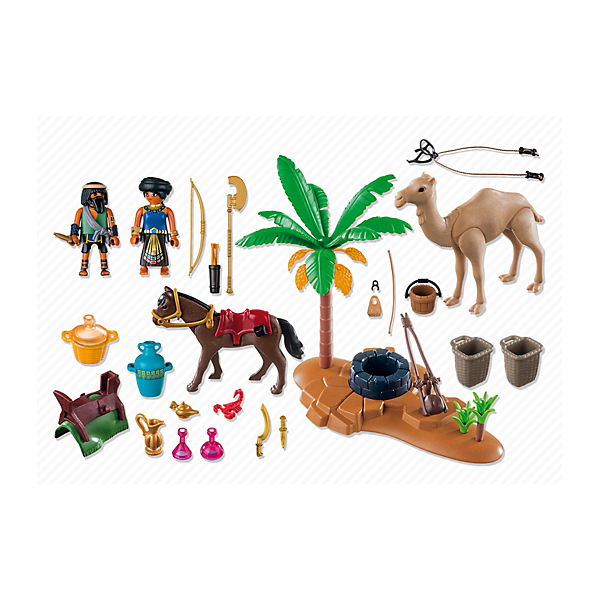 Playmobil 5387 - Camp of grave robber - Back