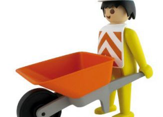 Playmobil - 00000 - Worker with wheelbarrow