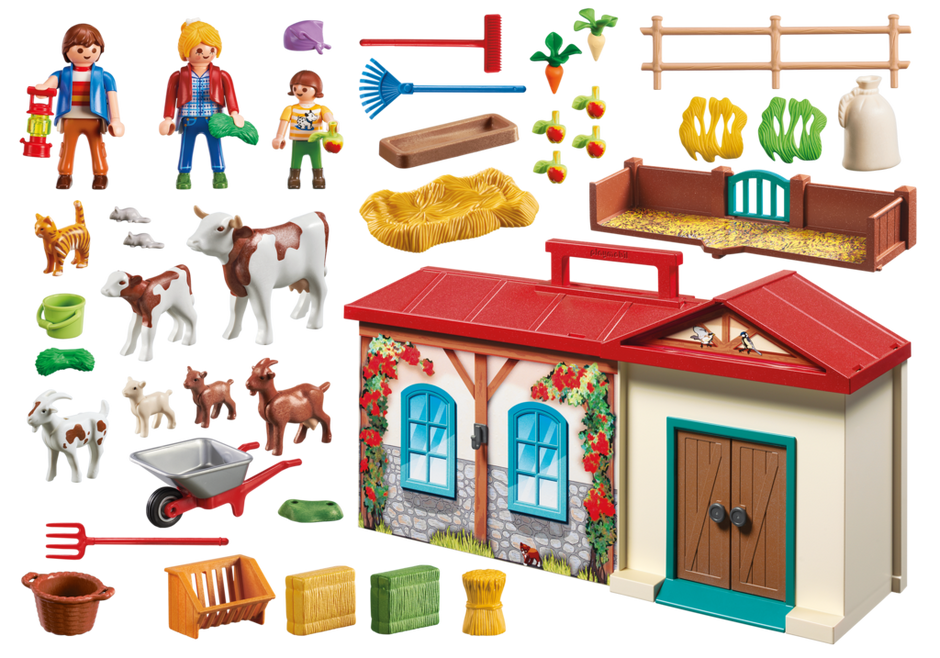 Playmobil 4897 - Takeaway farm - Back