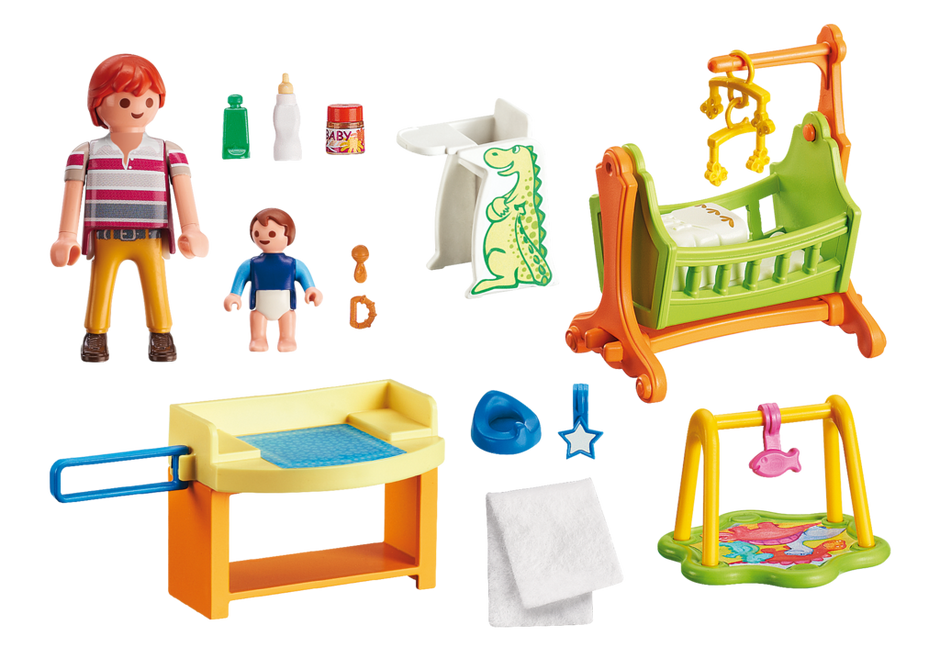 Playmobil 5304 - Babyzimmer mit Wiege - Back