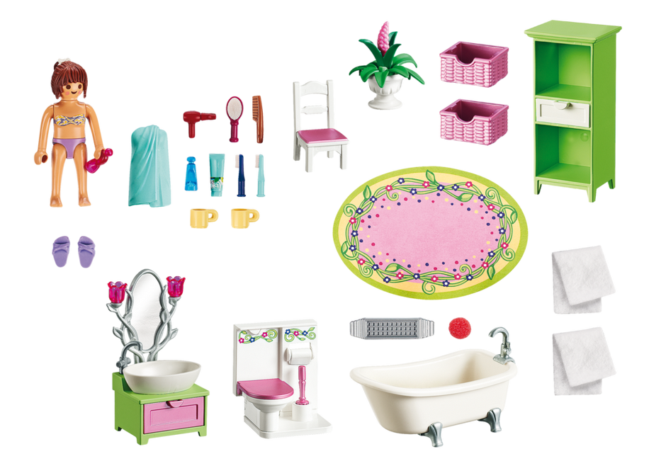 Playmobil 5307 - Romantic Bathroom - Back