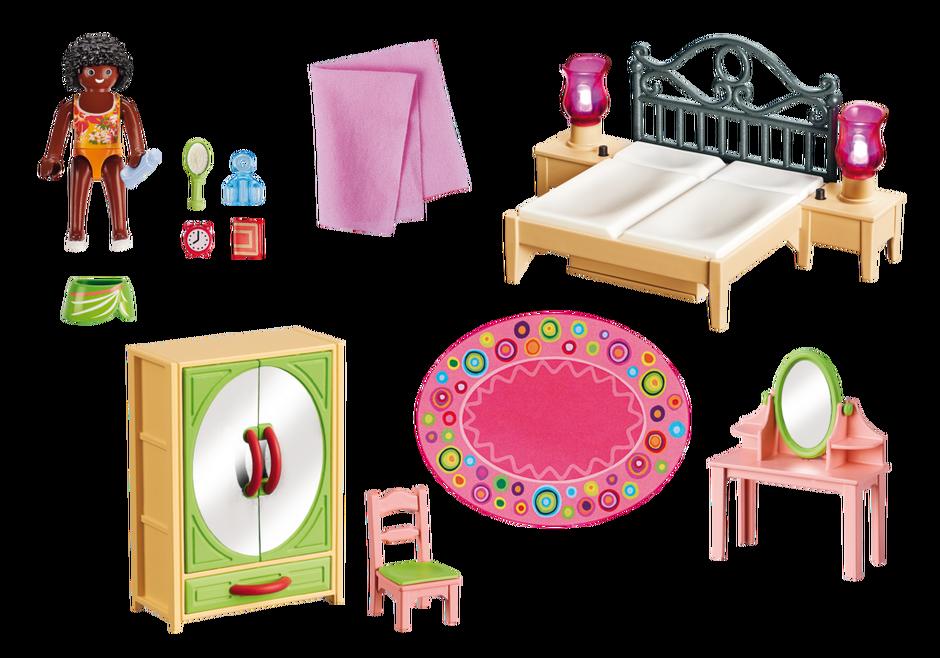 Playmobil set 5309 schlafzimmer mit schminktischchen for Playmobil haus schlafzimmer