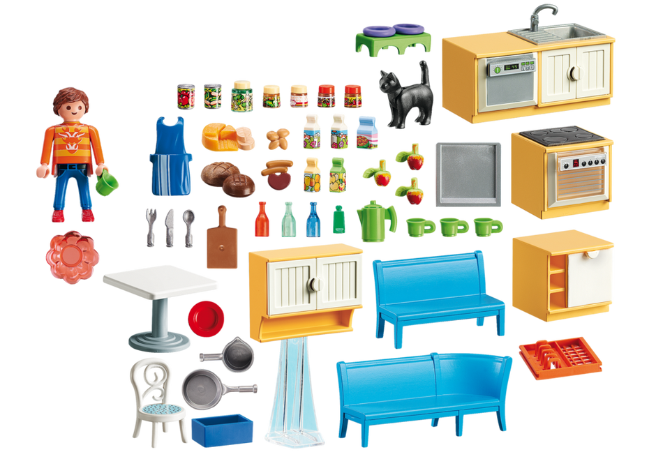 Playmobil 5336 - Fitted kitchen with seating - Back