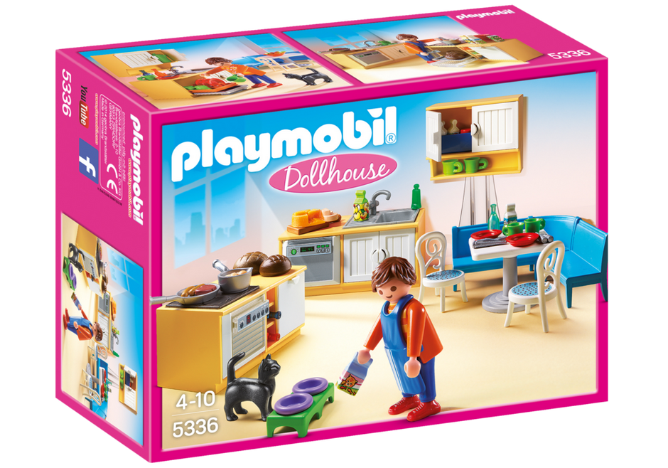 Playmobil 5336 - Fitted kitchen with seating - Box