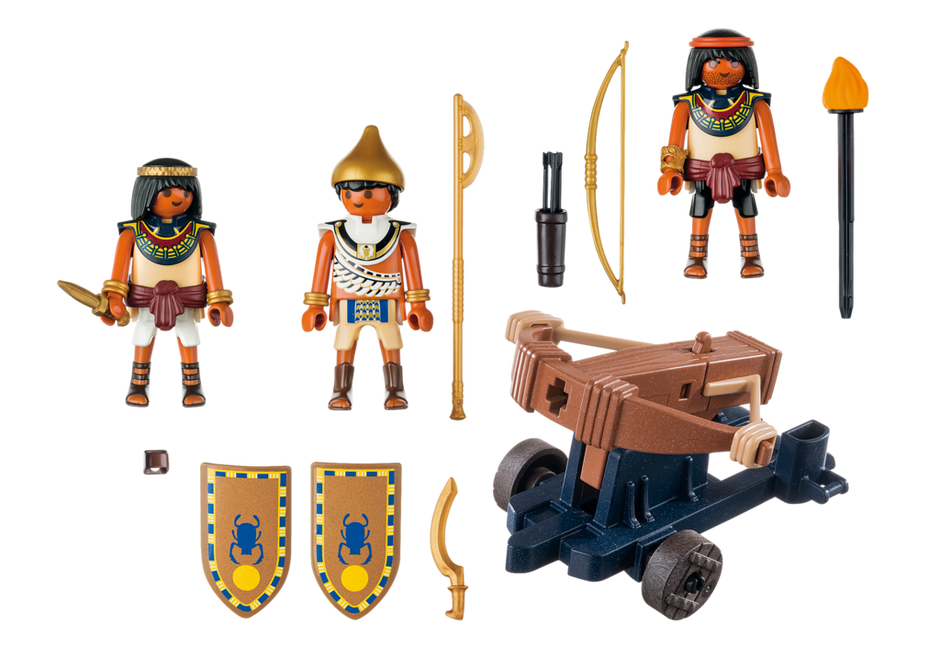 Playmobil 5388 - Egyptian Troop with Ballista - Back