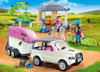Playmobil - 5667-gre - Horse Stable with Trailer