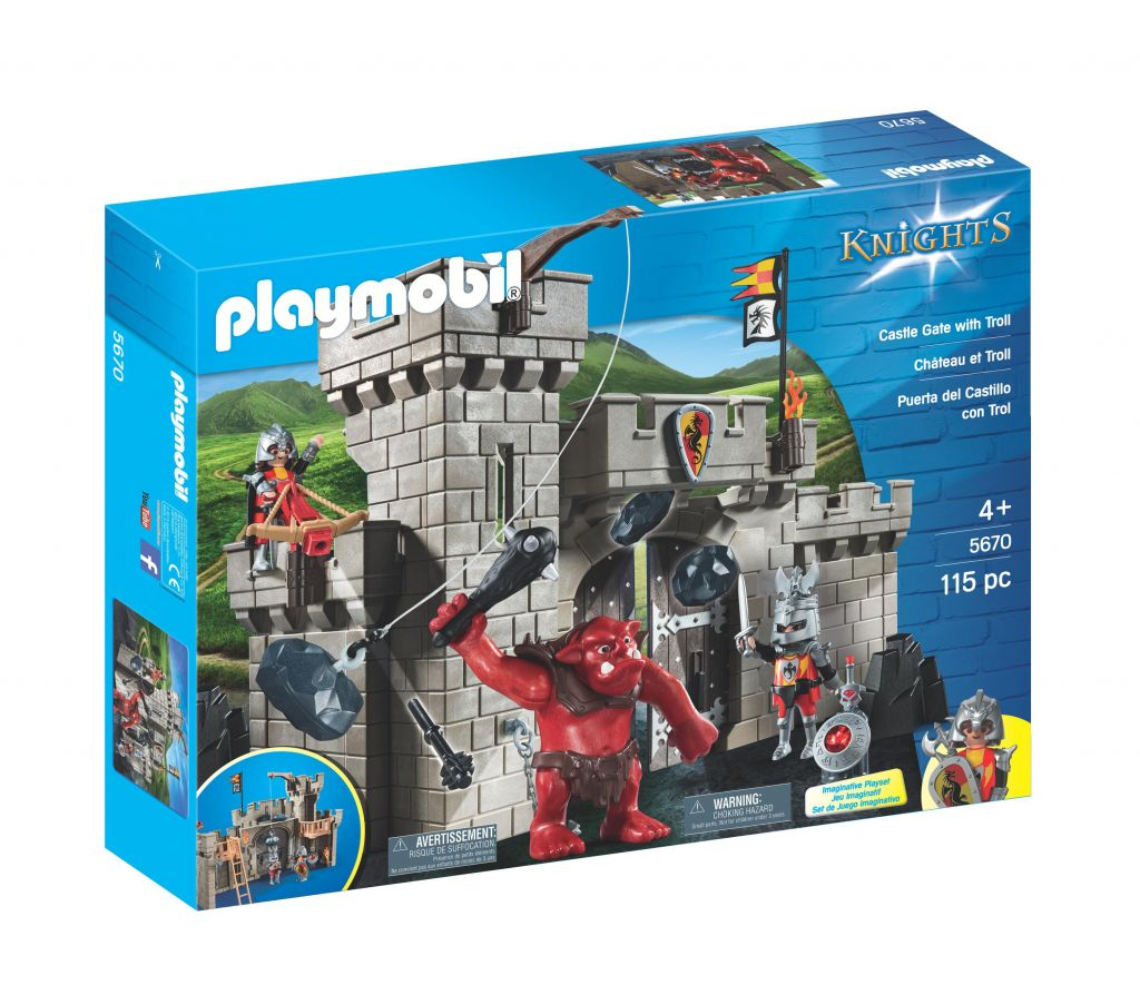 Playmobil 5670-gre - Castle Gate with red troll - Box