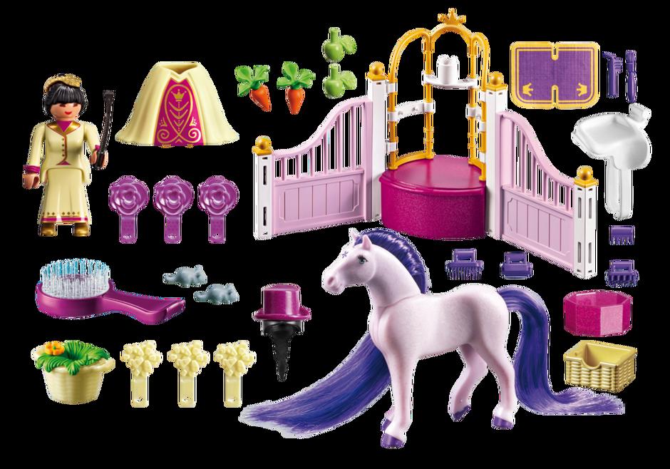 Playmobil 6855 - Royal Stable - Back