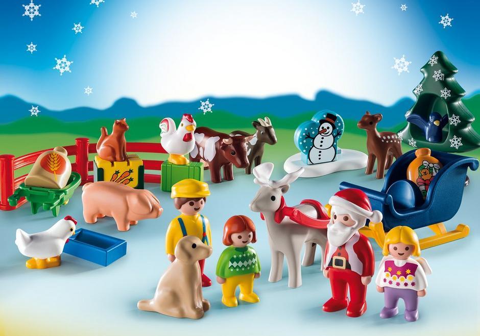 playmobil set 9009 christmas on the farm klickypedia. Black Bedroom Furniture Sets. Home Design Ideas
