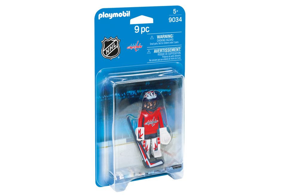 Playmobil 9034-usa - NHL® Washington Capitals® Goalie - Box