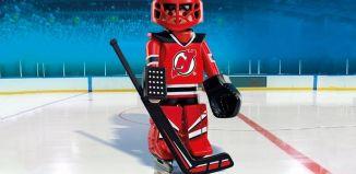 Playmobil - 9036-usa - NHL® New Jersey Devils® Goalie